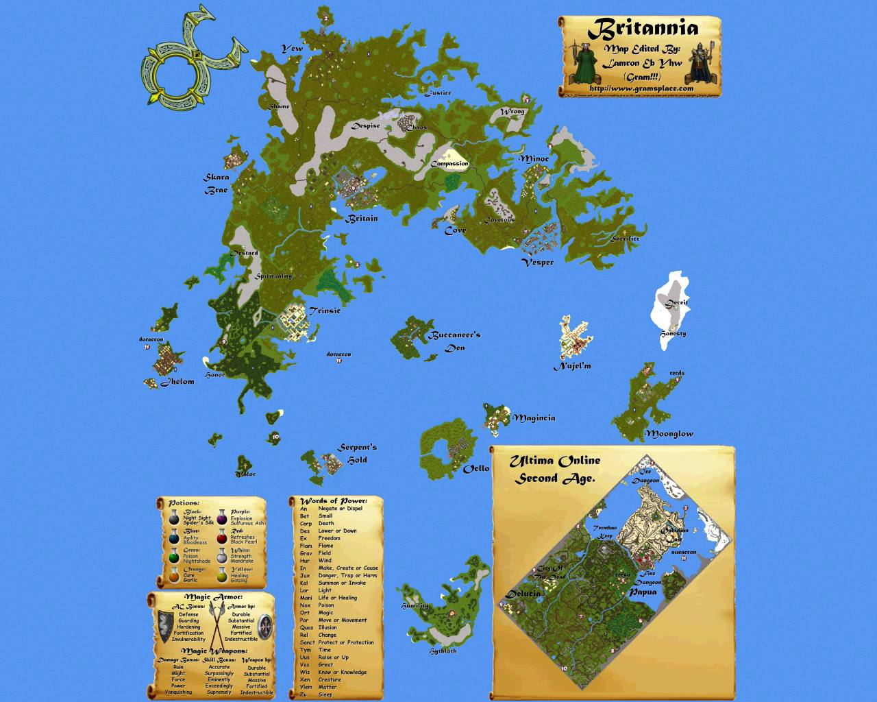 Map de UO UltUoMap1280