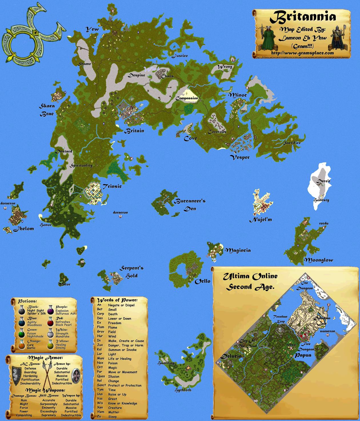 UO Stratics Grams Ultimate World Maps Main - World maps online