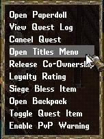 Titles Menu, Context