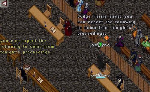 Judge Ferris opens the trial.