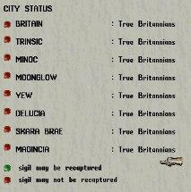 True Britannians control all city sigils