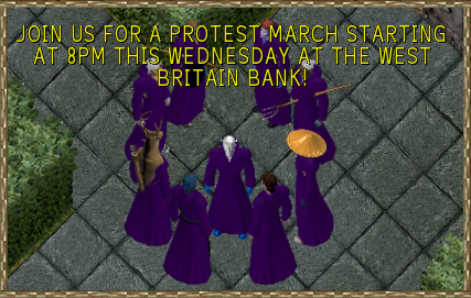High Council defiantly announce protest march from the courtyard of Blackthorn's Keep!