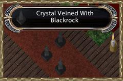 Blackrock veined crystals