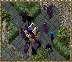 High Chancellor DaKaren speaks in the courtyard of Casca occupied Blackthorn's Keep.