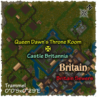 Map to Castle Britannia Throne Room