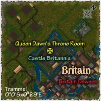 Map to Castle Britannia Throne Room