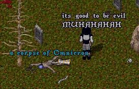 Prelate Volo gloats over Omnicron's corpse