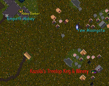 Screen Shot of OverHead Map of Kazola's Location.